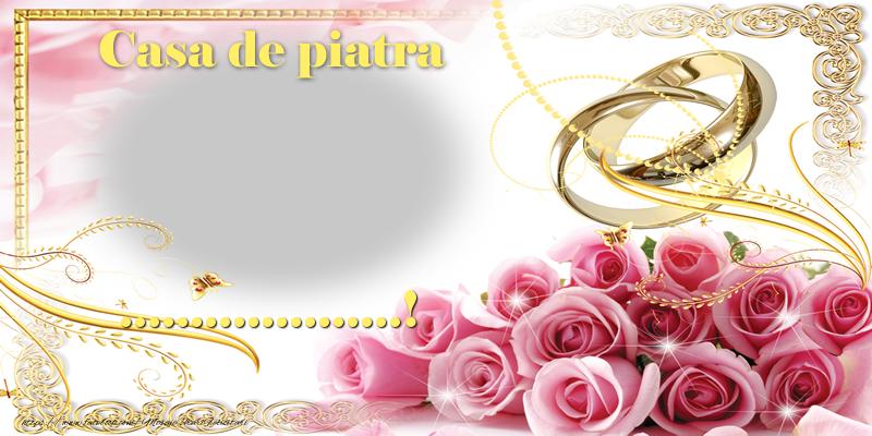Personalizare felicitari de Casatorie | Casă de piatră ...!
