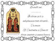 Personalizare felicitari de Sfintii Constantin si Elena | La multi ani ... Iti dorim sa ti se  indeplineasca toate dorintele.  Cu ocazia  Sf. Constantin si Elena iti  dorim sanatate si numai bucurii.