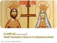 Personalizare felicitari de Sfintii Constantin si Elena | La multi ani, ... Sfintii Constantin si Elena sa te calauzeasca mereu!