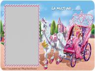 Personalizare felicitari pentru copii   Felicitare cu Barbie. La multi ani ...