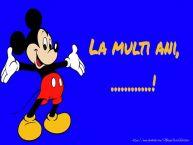Personalizare felicitari pentru copii   Felicitare cu Mickey Mouse: La multi ani, ...!