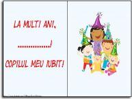 Personalizare felicitari pentru copii | La multi ani, copilul meu iubit! ...