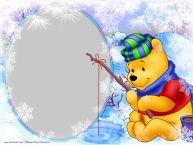 Personalizare felicitari pentru copii   Rama foto de iarna