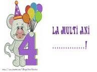 Personalizare felicitari pentru copii | La multi ani ...! 4 ani