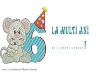 Personalizare felicitari pentru copii | La multi ani ...! 6 ani