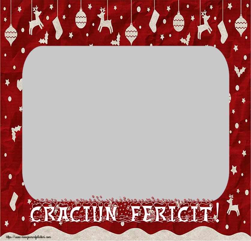 Personalizare felicitari de Craciun | Craciun Fericit! - Rama foto de Craciun