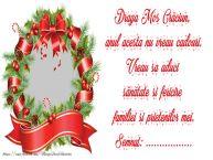 Personalizare felicitari de Craciun | Scrisoarea ta catre Mos Crăciun! Semnat: ...