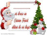 Personalizare felicitari de Craciun | ..., vă doresc un Crăciun Fericit alături de cei dragi!