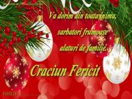 Personalizare felicitari de Craciun | Va dorim din toata inima, sarbatori frumoase alaturi de familie. Craciun Fericit ...