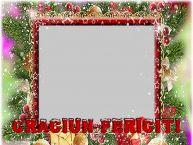 Personalizare felicitari de Craciun | Craciun Fericit! - Rama foto de Craciun cu poza ta de facebook