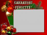 Personalizare felicitari de Craciun   Sarbatori Fericite! - Rama foto de Craciun