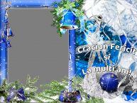 Personalizare felicitari de Craciun   Craciun Fericit si La multi ani! - Rama foto de Craciun