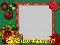 Personalizare felicitari de Craciun   Craciun Fericit! - Rama foto de Craciun
