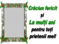 Personalizare felicitari de Craciun   Mesaj de Sărbători pentru prieteni