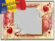 Personalizare felicitari de Dragobete | Rama foto cu inimi