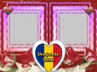Personalizare felicitari de Dragobete | Rama foto dubla