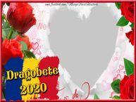 Personalizare felicitari de Dragobete | Rama foto personalizate cu inima