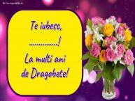 Personalizare felicitari de Dragobete | Te iubesc, ...! La multi ani de Dragobete!