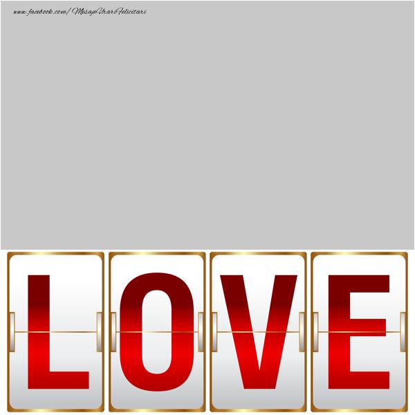 Personalizare felicitari de dragoste | Love