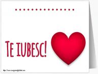 Personalizare felicitari de dragoste | ... Te iubesc!