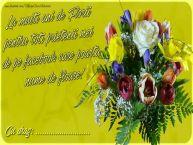 Personalizare felicitari de Florii | La multi ani de Florii pentru toti prietenii mei de pe facebook care poarta nume de floare! Cu drag Cu stima: ...