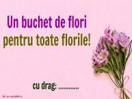 Personalizare felicitari de Florii | Un buchet de flori pentru toate florile! [FROM