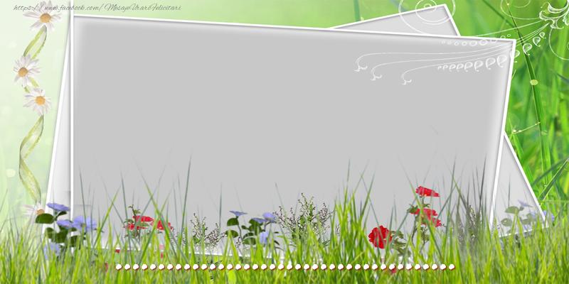 Personalizare felicitari de la multi ani | Felicitare cu flori, poza si text