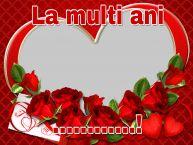 Personalizare felicitari de la multi ani   La multi ani ...! - Rama foto de La Multi Ani
