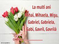 Personalizare felicitari de Sfintii Mihail si Gavril | La multi ani Mihai, Mihaela, Mișu, Gabriel, Gabriela, Gabi, Gavril, Gavrilă ...