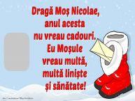 Personalizare felicitari de Mos Nicolae | Scrisoare pentru Moș Nicolae