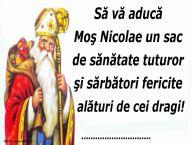 Personalizare felicitari de Mos Nicolae | Să vă aducă Moş Nicolae un sac de sănătate tuturor şi sărbători fericite alături de cei dragi! ...