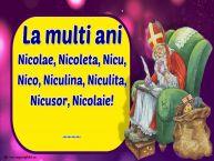 Personalizare felicitari de Mos Nicolae | La multi ani Nicolae, Nicoleta, Nicu, Nico, Niculina, Niculita, Nicusor, Nicolaie! ...