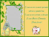 Personalizare felicitari de Pasti | E ziua in care se naste speranta, iubirea si gandul bun. E ziua in care iertam si daruim. E ziua Invierii domnului. Paste fericit!