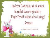 Personalizare felicitari de Pasti | Paște Fericit! Semnat: ...