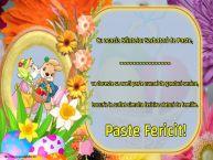 Personalizare felicitari de Pasti | Cu ocazia Sfintelor Sarbatori de Paste, ... va doreste sa aveti parte numai de ganduri senine, bucurie in suflet simulta fericire alaturi de familie. Paste Fericit!