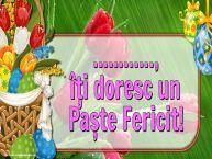 Personalizare felicitari de Pasti | ..., îți doresc un Paște Fericit!