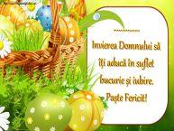 Personalizare felicitari de Pasti | ... Invierea Domnului să îți aducă în suflet bucurie și iubire. Paște Fericit!