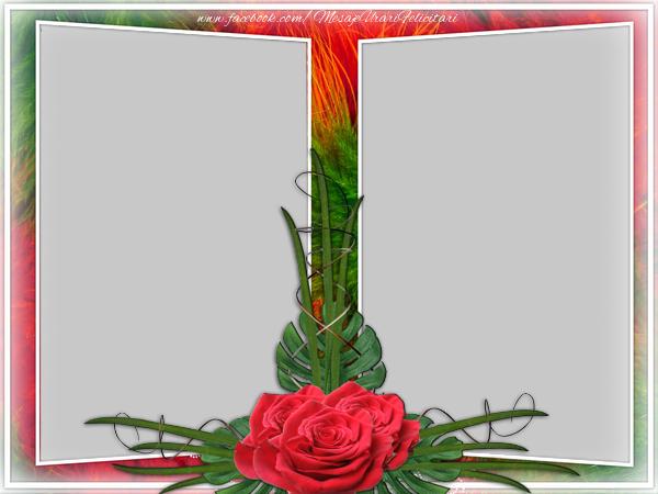 Personalizare felicitari  | Rama foto cu flori
