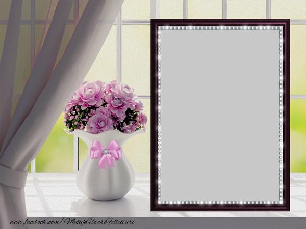 Personalizare felicitari  | Fereastra cu flori