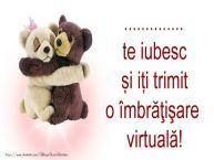 Personalizare felicitari de prietenie | ... te iubesc și iți trimit o îmbrăţişare virtuală!