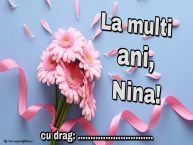 Personalizare felicitari de Sfânta Nina | La multi ani, Nina! ...