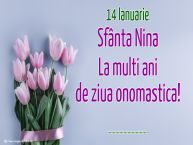 Personalizare felicitari de Sfânta Nina | 14 Ianuarie Sfânta Nina La multi ani de ziua onomastica! ...
