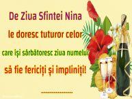 Personalizare felicitari de Sfânta Nina | De Ziua Sfintei Nina le doresc tuturor celor care își sărbătoresc ziua numelui să fie fericiți și împliniți! ...
