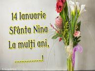 Personalizare felicitari de Sfânta Nina | 14 Ianuarie Sfânta Nina La mulți ani, ...!