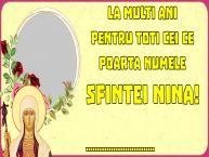 Personalizare felicitari de Sfânta Nina | La multi ani pentru toti cei ce poarta numele Sfintei Nina! ...