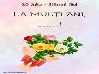 Personalizare felicitari de Sfantul Ilie | 20 Iulie - Sfântul Ilie! La mulți ani, ...!