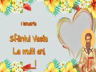 Personalizare felicitari de Sfântul Vasile | 1 Ianuarie Sfântul Vasile La multi ani, ...! -