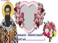 Personalizare felicitari de Sfântul Vasile | 1 Ianuarie - Sfântul Vasile La multi ani, ...! -