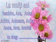 Personalizare felicitari de Sfintii Ioachim si Ana | La mulți ani Ioachim, Ana,  Anica Achim, Anisoara, Anita, Anuta, Anca, Ancuta! ...!