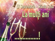 Personalizare felicitari de Sfânta Sofia | 17 Septembrie - Sfânta Sofia La mulți ani ...!